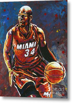 Ray Allen Metal Print by Maria Arango