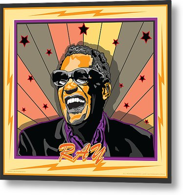 Ray Charles Metal Print by Larry Butterworth