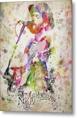Ray Lamontagne Portrait Metal Print by Aged Pixel
