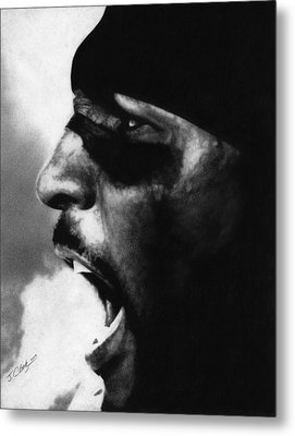 Ray Lewis Metal Print by Justin Clark