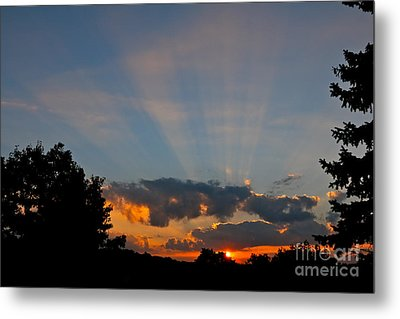 Rays And Shine Metal Print by Jay Nodianos