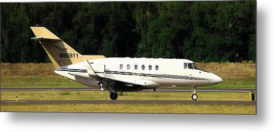 Airplane Metal Print featuring the photograph Raytheon Hawker 800xp by Aaron Berg