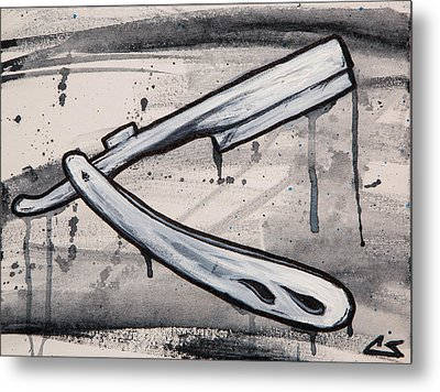 Razor Finish Metal Print by The Styles Gallery