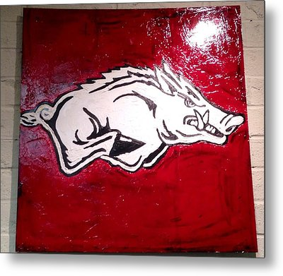 Razorback Painting Art Metal Print by Dawn Bearden