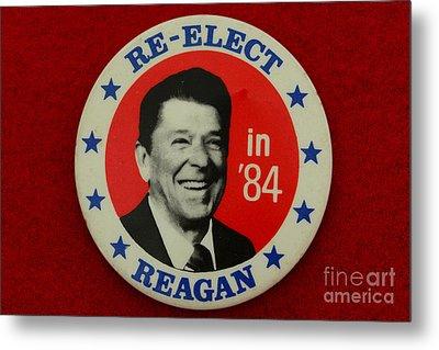 Re-elect Reagan Metal Print by Paul Ward