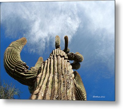 Metal Print featuring the photograph Reach The Sky by Dick Botkin