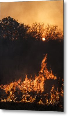 Reaching Flames Metal Print by Scott Bean