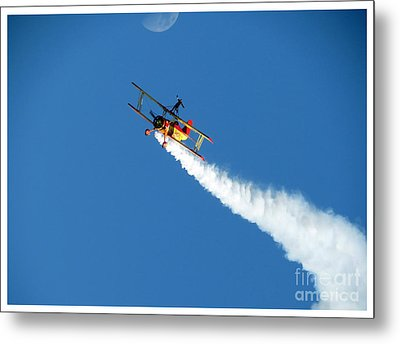 Reaching For The Moon. Oshkosh 2012. Postcard Border. Metal Print by Ausra Huntington nee Paulauskaite