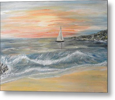 Reaching Horizon And Beyond... Metal Print by Corina Blejan Lupascu