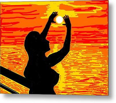 Reaching To The Sun Metal Print by Anand Swaroop Manchiraju