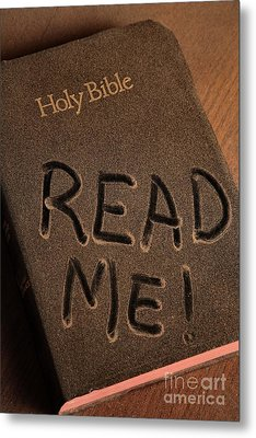 Read Me Bible Metal Print