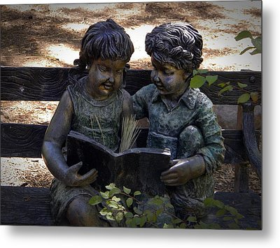 Read With Me Metal Print by Frank Wilson