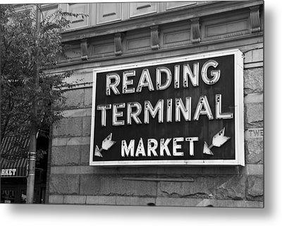 Reading Terminal Market Metal Print by Jennifer Ancker