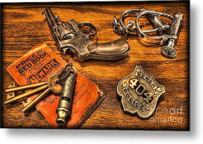 Ready For Duty - Police Officer Metal Print by Lee Dos Santos