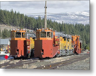 Ready For More Snow At Donner Pass Metal Print