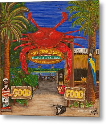 Ready For The Day At The Crab Shack Metal Print