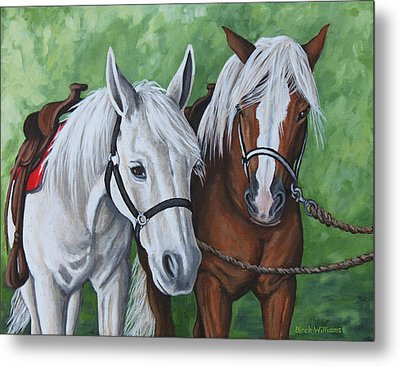 Ready To Ride Metal Print by Penny Birch-Williams