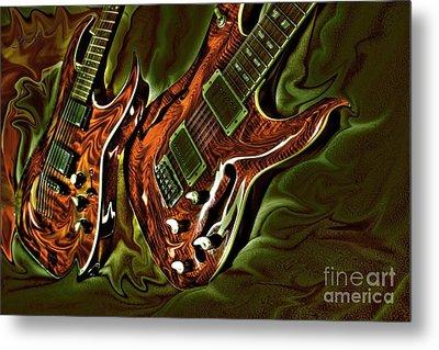 Ready To Rock Digital Guitar Art By Steven Langston Metal Print by Steven Lebron Langston