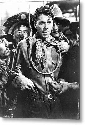 Reagan Western Film Still Metal Print