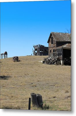 Metal Print featuring the photograph Real Estate On The Open Plain by Kathleen Scanlan