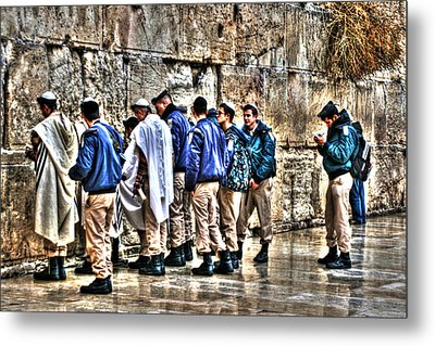 Metal Print featuring the photograph Real Homeland Security In Israel by Doc Braham
