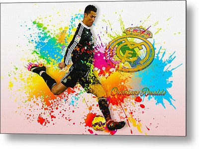 Real Madrid - Portuguese Forward Cristiano Ronaldo Metal Print