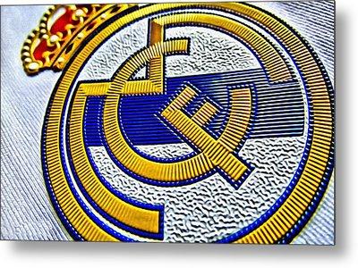 Real Madrid Poster Art Metal Print