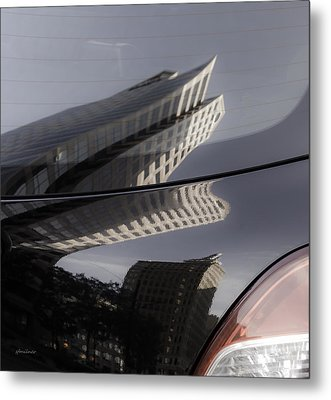 Metal Print featuring the photograph Rear Reflections by Steven Milner