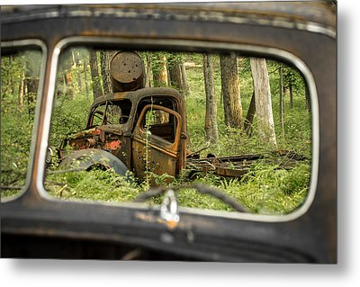 Rear View Metal Print