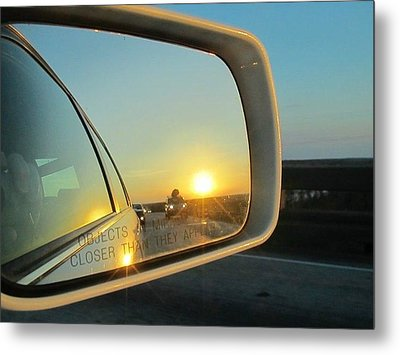 Rear View Sunset Metal Print