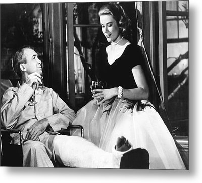 Rear Window, From Left James Stewart Metal Print by Everett