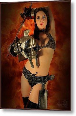 Rebel Fire Metal Print