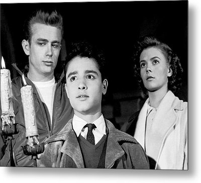 Rebel Without A Cause, From Left, James Metal Print