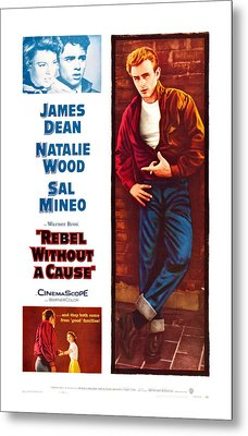 Rebel Without A Cause, Us Poster Art Metal Print