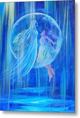 Rebirthing The Sacred Feminine Metal Print by The Art With A Heart By Charlotte Phillips