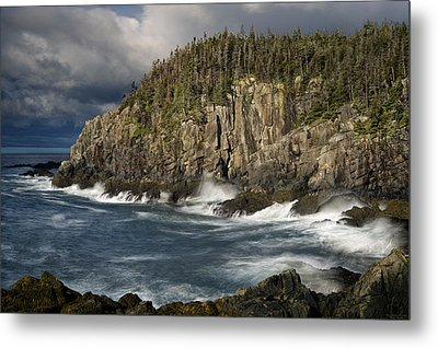 Receding Storm At Gulliver's Hole Metal Print by Marty Saccone