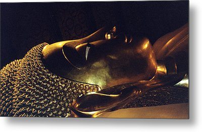 Metal Print featuring the photograph Reclining Buddha by Mary Bedy