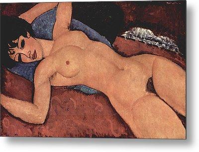 Reclining Nude Metal Print by Amedeo Modigliani