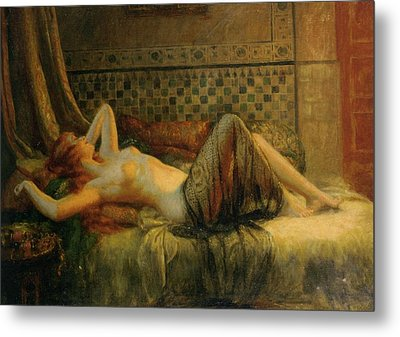 Metal Print featuring the painting Reclining Nude   by Delphin Enjolras