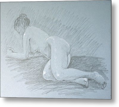 Reclining Woman Metal Print by Deborah Dendler