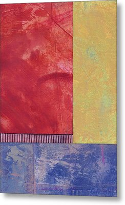 Rectangles - Abstract -art  Metal Print by Ann Powell