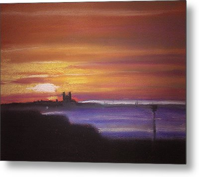 Reculver Sunset Metal Print by Paul Mitchell