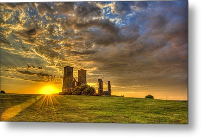 Reculver Towers Kent Sunset Metal Print