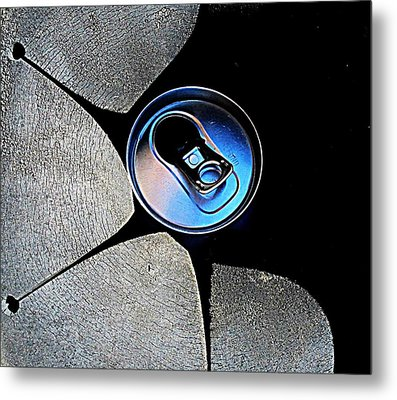 Metal Print featuring the photograph Recycled Can In A Recycle Bin by John King