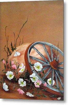 Metal Print featuring the painting Recycled by Roseann Gilmore
