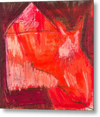 Red. 1 Metal Print by Marie Tosto