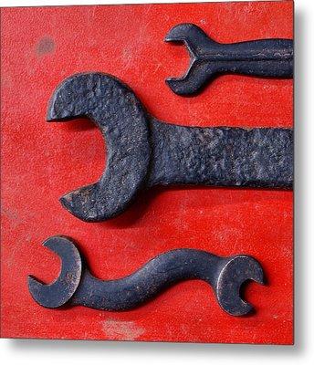 Red 34 Metal Print by Tom Druin