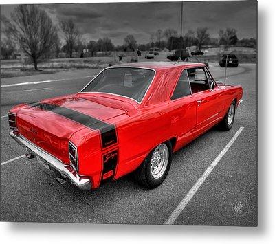 Red '69 Dodge Dart Swinger Metal Print by Lance Vaughn