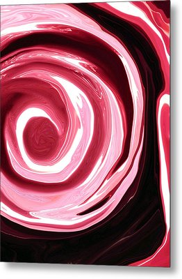 Red Abyss Metal Print by Linnea Tober