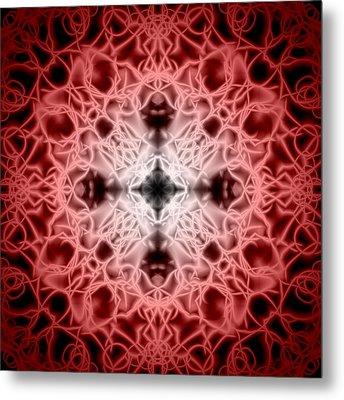 Red Metal Print by Adam Romanowicz